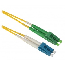 Duplexní patch kabel SM 9/125, OS2, LC(UPC)-LC(APC), LS0H, 1m