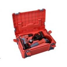 Extol Craft vrtačka aku, 12V Li-ion (2x) a bruska úhlová 125mm v plastovém boxu