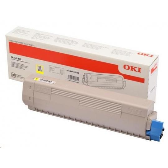 OKI Yellow toner do C833/C843 (10 000 stránek)