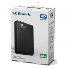 """BAZAR VADNÉ - WD Elements Portable 750GB Ext. 2.5"""" USB3.0, Black"""