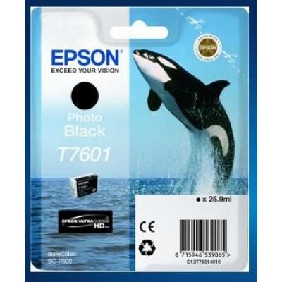 "EPSON ink čer ULTRACHROME HD ""Kosatka"" - Photo Black - T7601 (25,9 ml)"