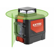 Extol Premium 8823307 laser zelený liniový, křížový samonivelační