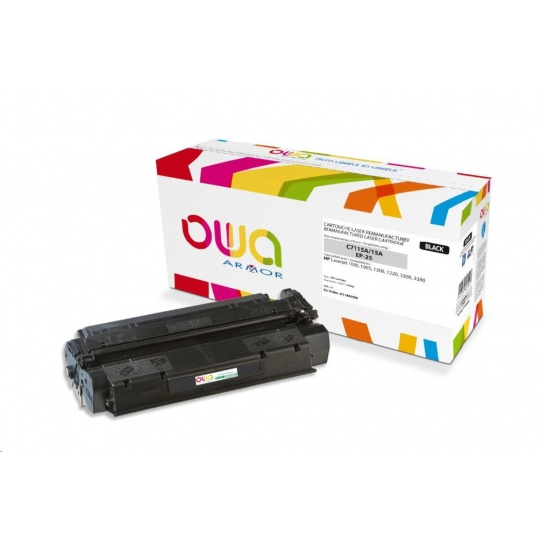 OWA Armor toner pro HP Laserjet 1200, 1220, 1000w, 1005w, 3300, 3380, 2500 Stran, C7115A, černá/black