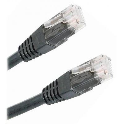Patch kabel Cat5E, UTP - 5m, černý