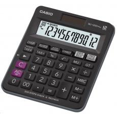 CASIO kalkulačka MJ 120 D Plus, černá, stolní, dvanáctimístná