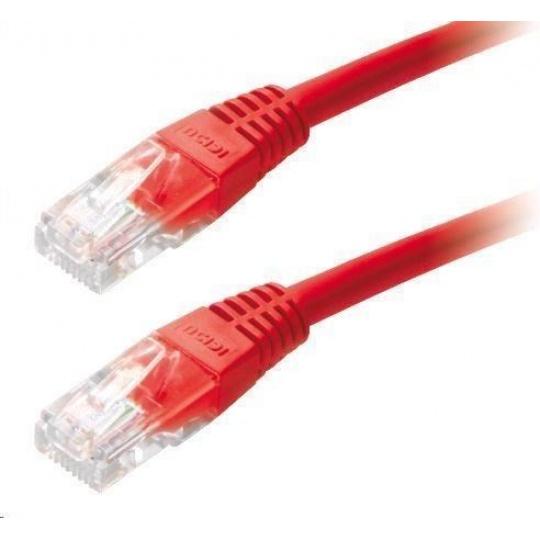 Patch kabel Cat6, UTP - 0,25m, červený