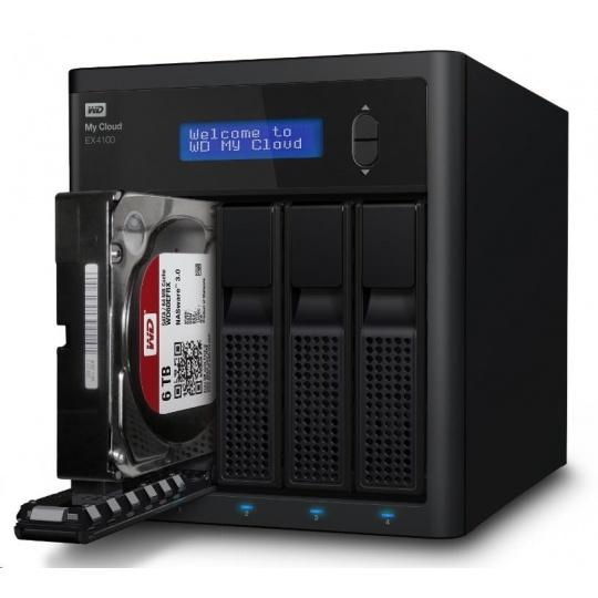 """WD My CLOUD EX 4100, 32 TB (4x8TB) 3,5"""", RJ45, NAS"""