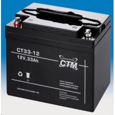 Baterie - CTM CT 12-33 (12V/33Ah - M6), životnost 5let