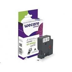 WECARE ARMOR páska pro DYMO S0720530, černá/bílá, 12mm x 7m