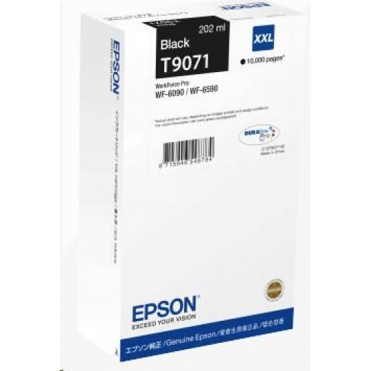 EPSON Ink čer WorkForce-WF-6xxx Ink Cartridge Black XXL 202 ml