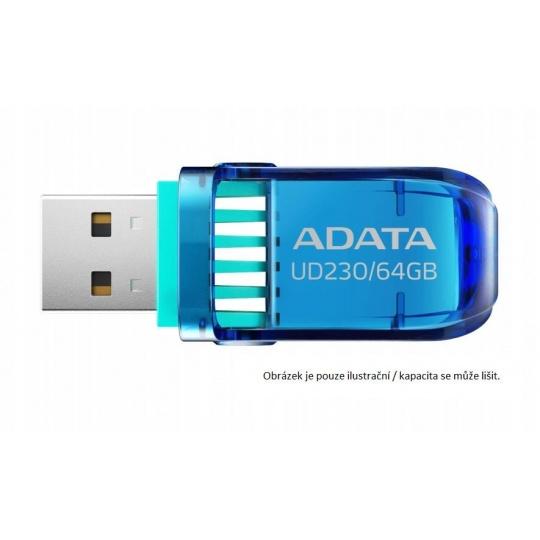 ADATA Flash Disk 32GB UD230, USB 2.0 Dash Drive, modrá