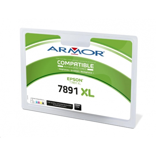 ARMOR cartridge pro EPSON WF-5110, 5190, 5620, 5690 černý, 73 ml (C13T78914010)