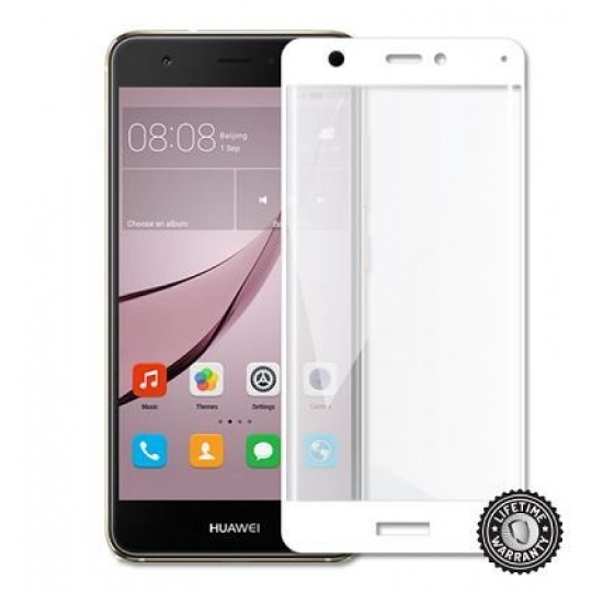 ScreenShield ochrana displeje Tempered Glass pro Huawei Nova CAN-L11, kovový rámeček, bílá