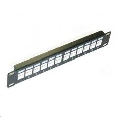 """10"""" Patch panel XtendLan 12port, UTP, Cat6, krone, černý"""