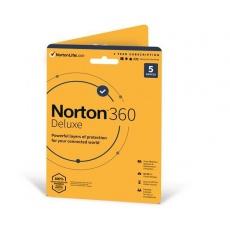 SPECIAL - NORTON 360 DELUXE 50GB +VPN 1 uživatel pro 5 zařízení na 1rok - Kartička