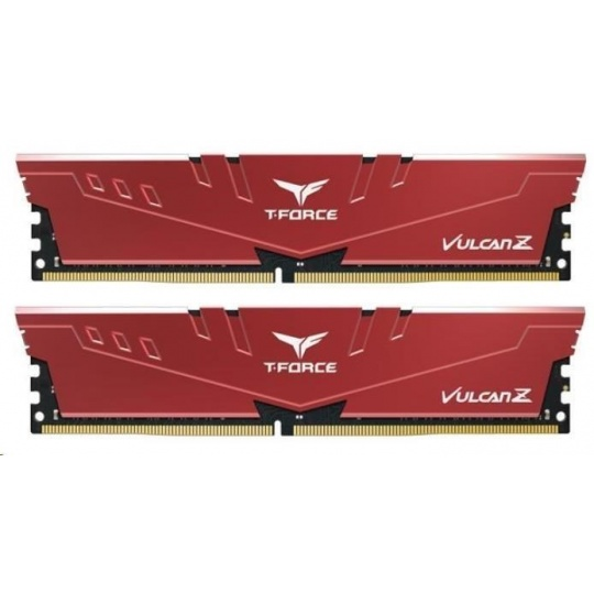 DIMM DDR4 16GB 3000MHz, CL16, (KIT 2x8GB), T-FORCE VULCAN Z, Red