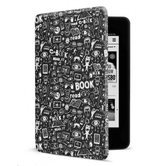CONNECT IT pouzdro pro Amazon NEW Kindle Paperwhite 4 (2018), černé Doodle