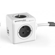 Allocacoc PowerCube Extended USB Grey (1,5m)