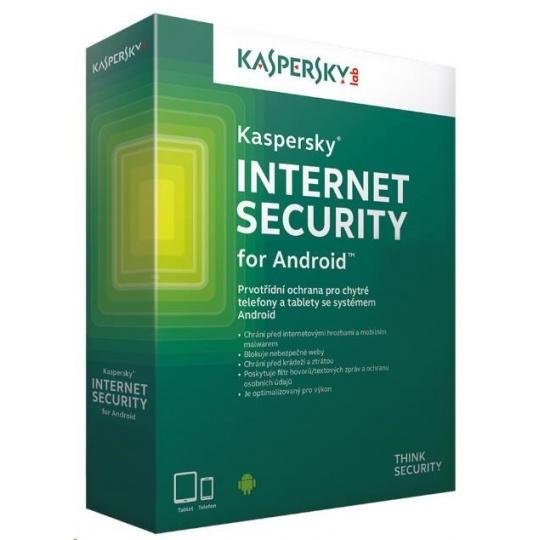 Kaspersky Internet Security 2019 ANDROID, 1 zařízení, 2 roky, nová licence, elektronicky