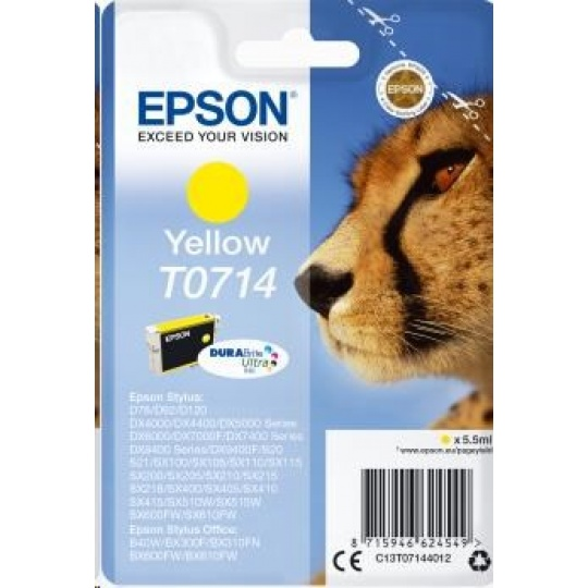 EPSON ink bar Singlepack Yellow T0714 DURABrite Ultra Ink (5,5 ml)