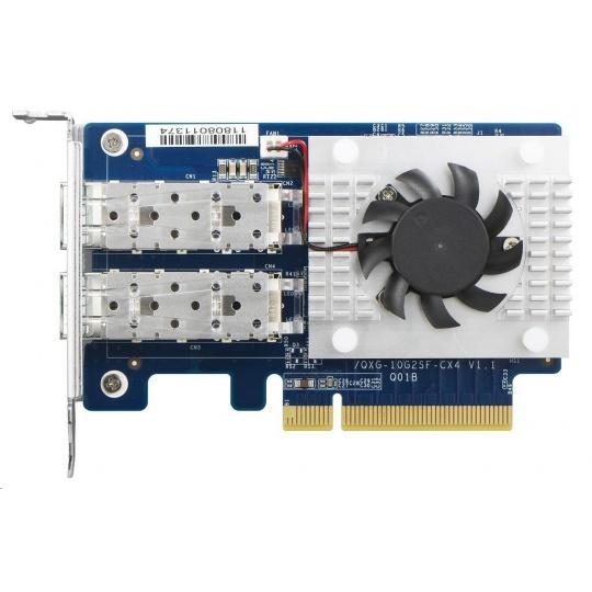 QNAP QXG-10G2SF-CX4 Síťová rozšiřující karta sítě 10 GbE se dvěma porty SFP+