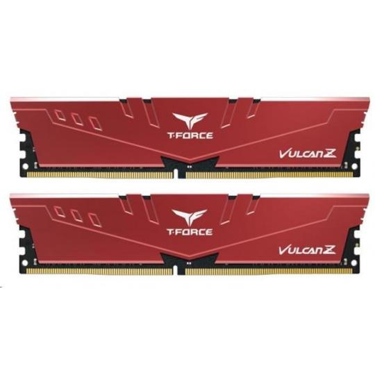 DIMM DDR4 16GB 2666MHz, CL18, (KIT 2x8GB), T-FORCE VULCAN Z, Red