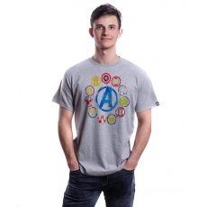 Tričko GLO MARVEL END GAME ICONS T-SHIRT L