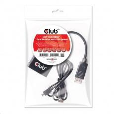 Club3D Video hub MST (Multi Stream Transport) DisplayPort na 2x HDMI, USB napájení