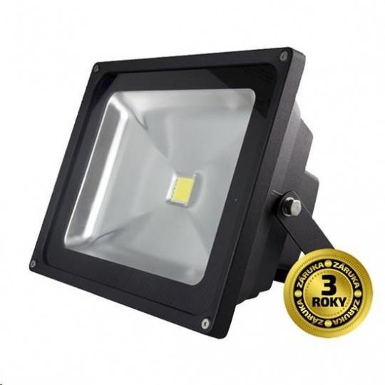 Solight LED venkovní reflektor, 30W, 2400lm, AC 230V, černá