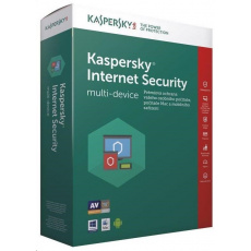 Kaspersky Internet Security CZ multi-device, 1 zařízení, 1 rok, nová licence + Safe Kids 6 měsíců, BOX