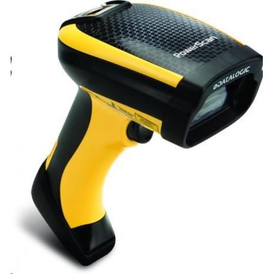 Datalogic PowerScan PM9300, 1D, AR, RB, black, žlutá