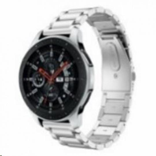 eses kovový řemínek stříbrný pro samsung galaxy watch 46mm/samsung gear s3/huawei watch 2