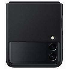 Samsung kožený zadní kryt EF-VF711LBEGW pro Galaxy Z Flip3, černá