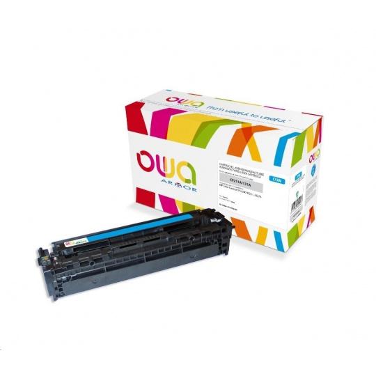 OWA Armor toner pro HP Color Laserjet Pro 200 M251, M276, 1800 Stran, CF211A, modrá/cyan