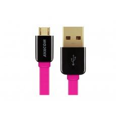 AVACOM MIC-40P kabel USB - Micro USB, 40cm, růžová