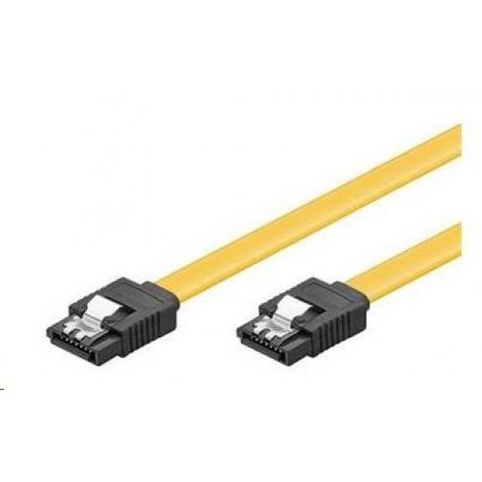 PREMIUMCORD Kabel SATA 3.0 datový 50cm, kovové západky