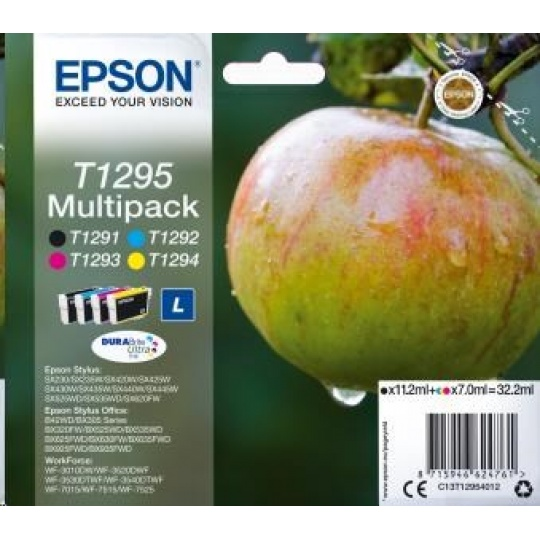 "EPSON ink Multipack 4-colours ""Jablko"" T1295 DURABrite Ultra Ink"