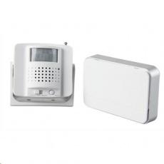 Solight bezdrátový hlásič pohybu/gong, externí PIR čidlo, napájení ze zásuvky, bílý