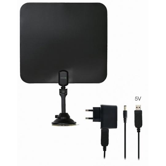 EVOLVEO Xany 2C LTE 230/5V, 41dBi aktivní pokojová anténa DVB-T/T2, LTE filtr