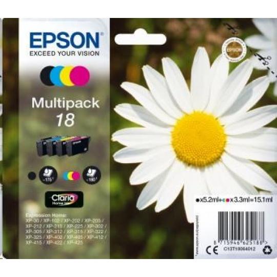 "EPSON ink Multipack 4-colours ""Sedmikráska"" 18 Claria Home Ink"