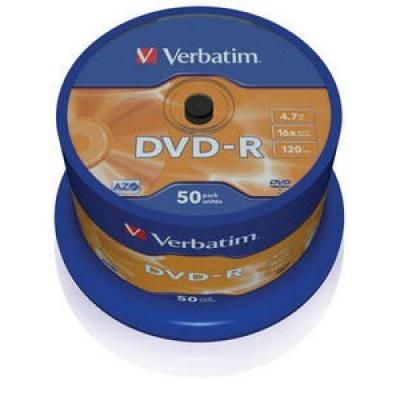 VERBATIM DVD-R(50-Pack)Spindle/General Retail/16x/4.7GB