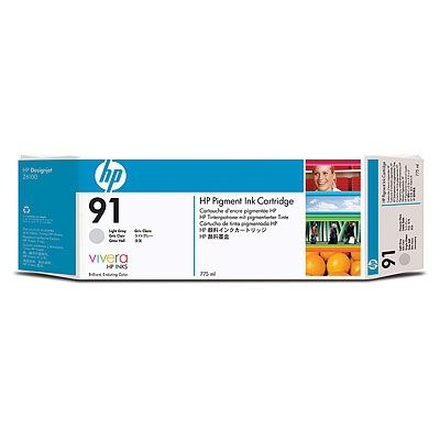 HP 91 Light Grey DJ Ink Cart, 775 ml, C9466A