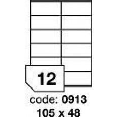 RAYFILM Štítky 105x48 univerzálne biele *R01000913F  1000 listov