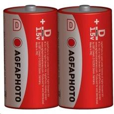 AgfaPhoto zinková baterie R20/D, shrink 2ks