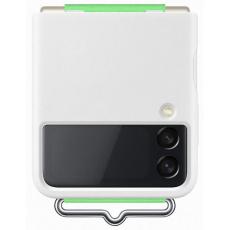 Samsung silikonový kryt s poutkem EF-GF711TW pro Galaxy Z Flip3, bílá