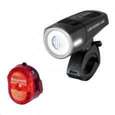 Sigma světlo na kolo LIGHTSTER USB + NUGGET II.