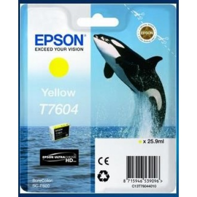 "EPSON ink bar ULTRACHROME HD ""Kosatka"" - Yellow - T7604 (25,9 ml)"