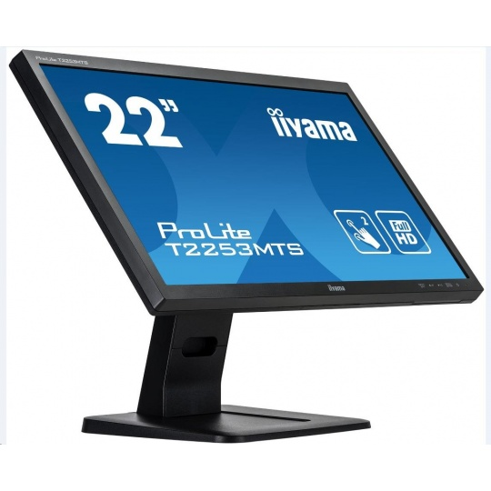 Iiyama dotykový monitor ProLite T2253MTS-B1, 54.6cm (21.5''), Optical Multitouch, Full HD, black