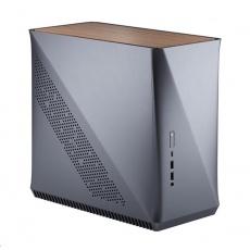 FRACTAL DESIGN skříň Era ITX, USB 3.1 Type-C, 2x USB 3.0, titan šedá, sv.dřevo, bez zdroje