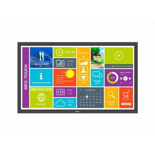 """NEC LFD 48"""" MuSy P484 SST MultiTouch LCD,S-PVA LED,1920x1080,4000:1,700cd/m2,8ms, DP+DVI+HDMI+VGA+BNC"""